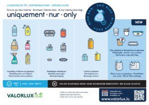 Sac bleu Valorlux - Simplification du tri